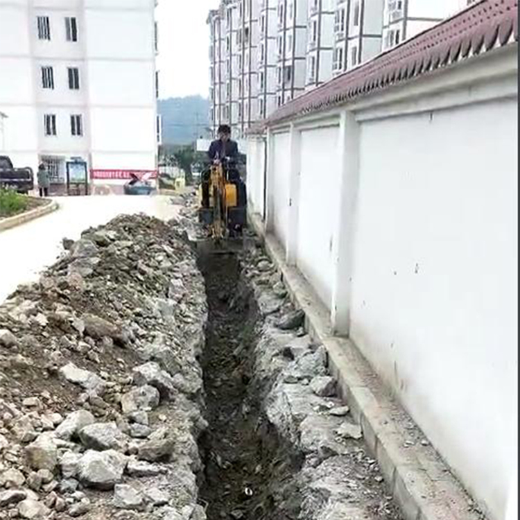 Dig water pipes in the community