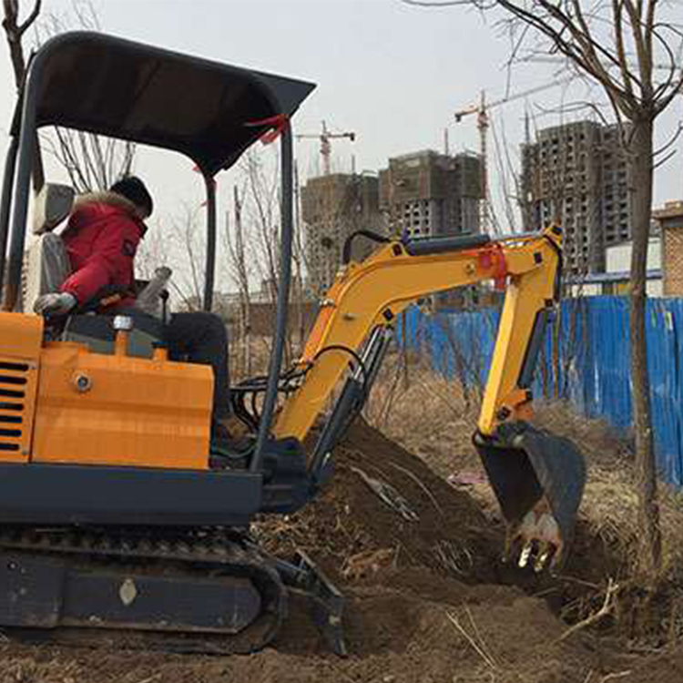 Digging holes to plant trees